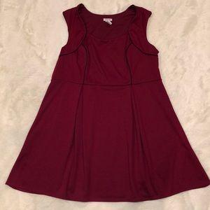 NWOT ModCloth maroon skater dress